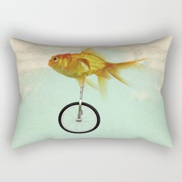 unicycle gold fish -2 Rectangular Pillow