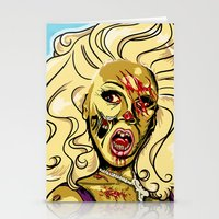 rupaul Stationery Cards featuring Zombie RuPaul by ComfortComfort