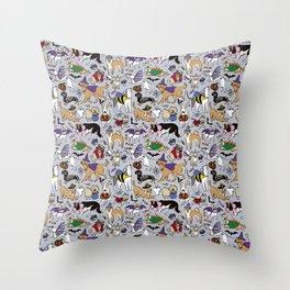 Dogs Fun Halloween Throw Pillow