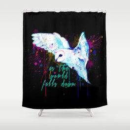 As The World Falls Down Owl Shower Curtain
