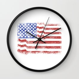 Guitar American Rock Gift US Flag Rock Guitars Concert Music Festival Wall Clock