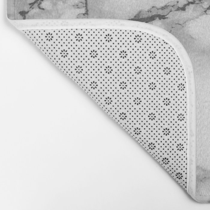 Marble - Gray Bath Mat By Colorandpatterns