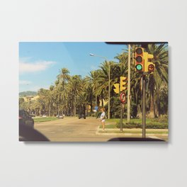 Trafficlight Metal Print