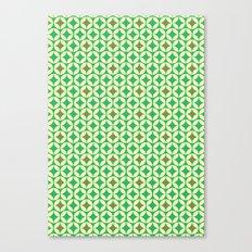 Repeated Retro - green Canvas Print