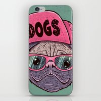 dogs iPhone & iPod Skins featuring Dogs by Lime