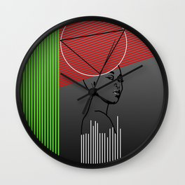 lines and potrait Wall Clock