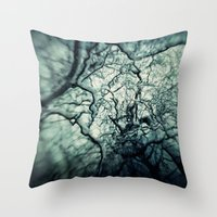 chaos Throw Pillows featuring Chaos by Sharon Johnstone