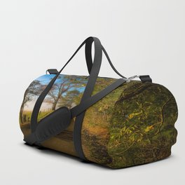 Smoky Morning - Whimsical Scene in Great Smoky Mountains Duffle Bag