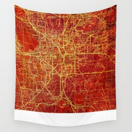 Orlando Miami us maps year 1955 Wall Tapestry