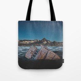 Sunken Ship Tote Bag