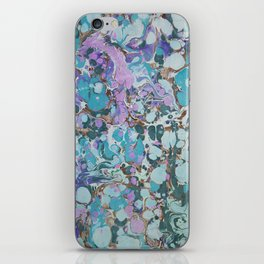 Aquabubble marbleized print iPhone Skin