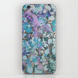 Aquabubble marbleized print iPhone Skin