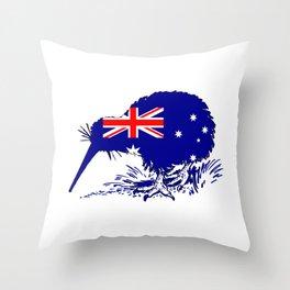 Australian Flag - Kiwi Bird Throw Pillow