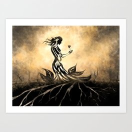 Woman in Gown Art Print