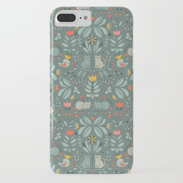 swedish folk cats iphone case
