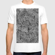 Oodles of Doodles MEDIUM Mens Fitted Tee White