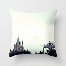 Fantasy Meets Sci-Fi Throw Pillow
