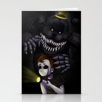 fnaf Stationery Cards featuring NIGHTMARE by DreaminInsomniac