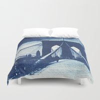 old school Duvet Covers featuring Old School by HardtThrob
