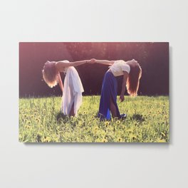 Friends Together in the Sun (Women) Metal Print