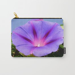 Purple Coloured Morning Glory Garden Background Carry-All Pouch
