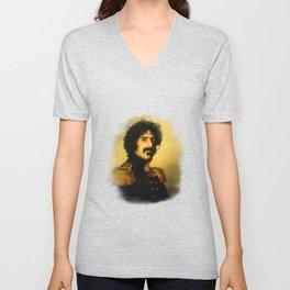 Frank Zappa - replaceface Unisex V-Neck
