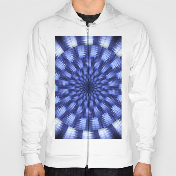 Round blue / white winter pattern design Hoody