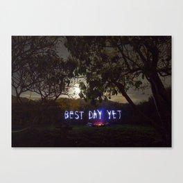 Best Day Yet Canvas Print