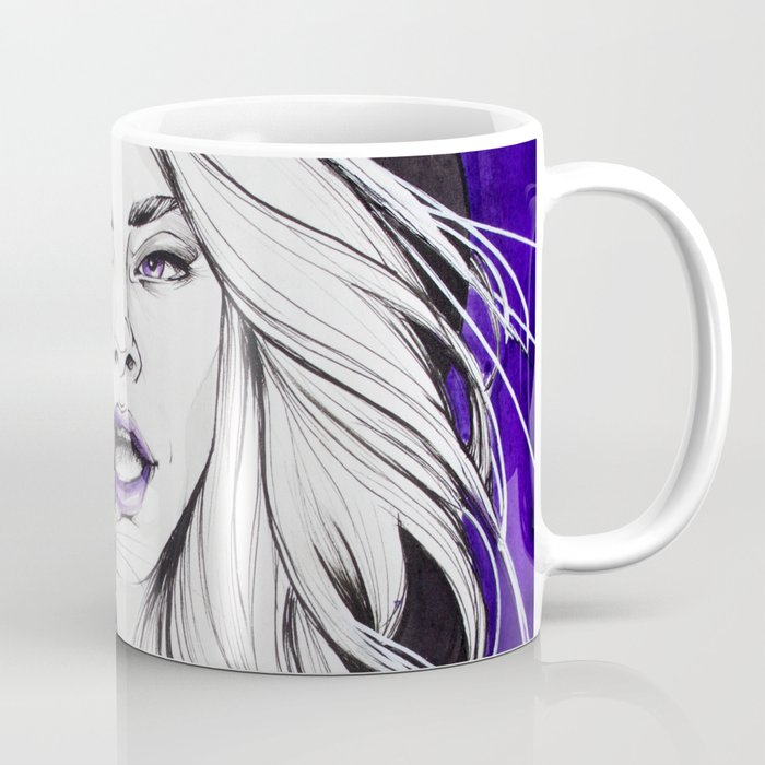 Purple Witch and her Familiar Coffee Mug