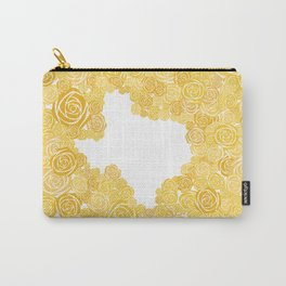 Texas Yellow Rose Outline Carry-All Pouch