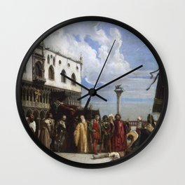 Alexandre-Jean-Baptiste Hesse, French, 1806-1879  The Funerary Honors Rendered to Titian Wall Clock