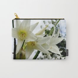 Photo white amaryllis Carry-All Pouch