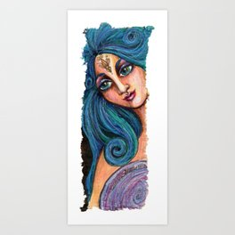 She Beholds Perfection Art Print