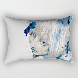 Nieves watercolor portrait by carographic Rectangular Pillow