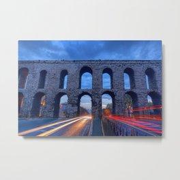 Racing The Aqueduct Metal Print