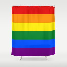 Pride Rainbow Colors Shower Curtain