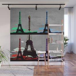 Paris, Eiffel Tower - Pop Art Wall Mural