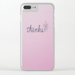 thanks* [pink] Clear iPhone Case
