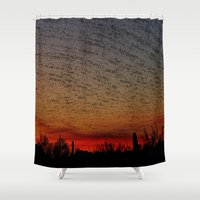 desert Shower Curtains featuring Desert by RingWaveArt