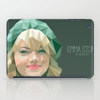 emma stone iPad Cases featuring Emma Stone by You Xiang