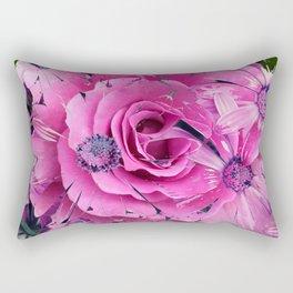 504 - Abstract Flower Design Rectangular Pillow