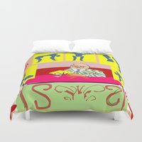 matisse Duvet Covers featuring matisse at work by ALDO AAB