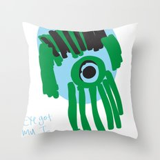 my eye is only on you [SQUID] [EYE]  Throw Pillow