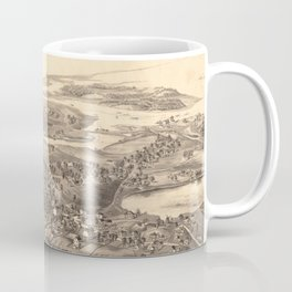 Vintage Pictorial Map of Chatham Massachusetts (1894) Coffee Mug