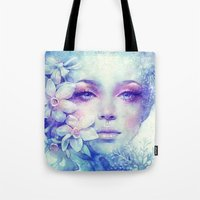 sale Tote Bags featuring December by Anna Dittmann