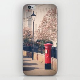 Red Postbox In Spring iPhone Skin