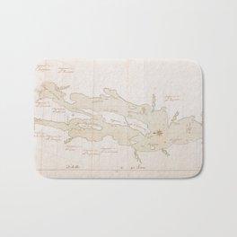 Vintage Map of Lake Champlain (1759) Bath Mat