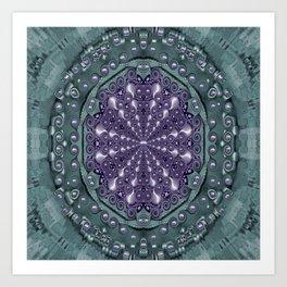 Star and flower mandala in wonderful colors Art Print