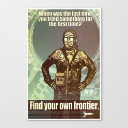 FIND YOUR FRONTIER Canvas Print