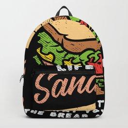 Sandwich Takeaway Lover Gift Motif Backpack